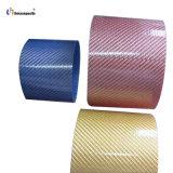Tubo colorido de la fibra del carbón