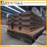 Four à tunnel automatique allumé de projet de brique de briques d'argile rouge