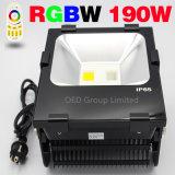 RGBW WiFiのスマートなフラッドライトが付いているWiFiの洪水ライトLED RGBW 50W 90W 190Wフラッドライト
