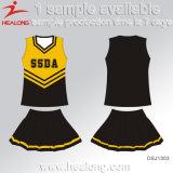 Buenas señoras de la sublimación de la ropa de deportes del diseño de Healong Cheerleading las alineadas
