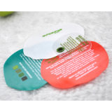 Etiquetas plásticas de la caída de la impresión colorida pomiforme redonda del Silk-Screen