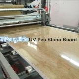 Cadena de producción decorativa del panel de pared de la hoja de piedra de mármol de imitación más nueva del PVC