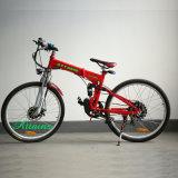 '' bici piegante elettrica della città di pollice 26 con la batteria del leone