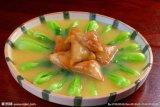 중국 딤섬 100% 손은 12.5g/Piece에게 식물성 언 Samosas를 만들었다