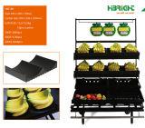 Cremalheira de indicador do vegetal de fruta do supermercado de 2 camadas