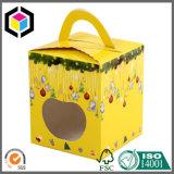 Caja de embalaje del color de la Navidad de Apple del papel brillante del portador