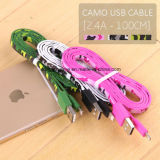 iPhone5를 위한 Camo 편평한 Lightning USB Charger Cable