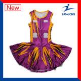Healong軽量のデジタルのプリントはライン女の子のネットボールの服を編んだ