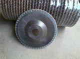 Disco da aleta do rolo de lixa para a roda de moedura