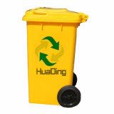 Escaninhos de recicl grandes da cozinha do HDPE 100L com roda e tampa
