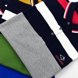 Les chemises 100% de Mens de coton ont barré le modèle de chemises de polo