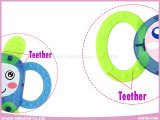 Baby-Geklapper-Plastikspielwaren mit Teether für Baby