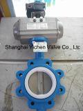 Borboleta pneumática Vlave do talão com PTFE (TD671F46)