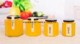 Tarros de vidrio de Hexahedron para el mermelada de la comida de la miel con diverso tamaño