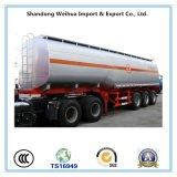 Reboque pesado do petroleiro do combustível do transporte dos eixos do preço do competidor 13t 3 com suspensão mecânica de tipo americano
