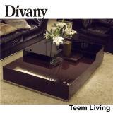 Divanyの居間の家具MDFガラス表のフィートMDFガラス表のフィートのアパートのガラスコーヒーテーブルT-57D