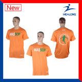 T-shirt en soie de polo d'impression d'écran fait sur commande de Healong