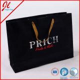 Portador de las compras con las bolsas de papel de lujo de encargo del regalo de la maneta de la impresión y de la cuerda