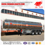 Acoplado del carro de petrolero del combustible de petróleo de la aleación de aluminio de 12 policías motorizados