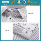Cotone che scrive tra riga e riga per il collare della camicia