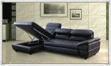 Sofá azul del cuero del color, sofá del Recliner, muebles caseros (M329)