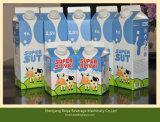 Empaquetadora de relleno del cartón triangular de la bebida del yogur