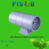 IP 65の単一のヘッド壁ランプ3Wのセリウムの証明