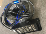習慣24チャネルXLRの段階ボックスが付いている可聴周波ヘビケーブル