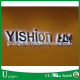 Carta de canal basada en el mercado al por mayor de China, muestra puesta a contraluz LED de la carta de canal de DIY
