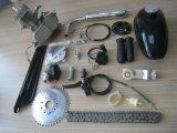 """80cc 2打撃はほとんどのタイプ26 """"および28 """"のバイクの銀のためにキットがDIYのために自転車のサイクルにモーターを備えたモーターガソリンガスエンジンバイク合った"""