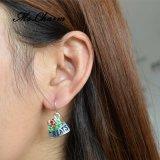 Weihnachtsschmucksachenbehandelt roter MiniRhinestoneBowknot Absinken-Ohrringe