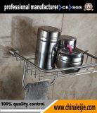 Badezimmer-Spiegel-Dusche-Korb des Edelstahls