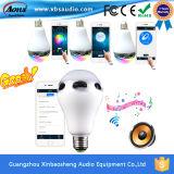 Altavoz controlado del APP Bluetooth de la radio elegante con la bombilla que destella del LED