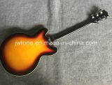 Пылаемая гитара джаза 355 отверстия f двойника клена верхние электрическая