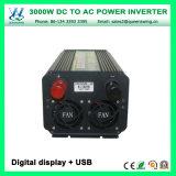 デジタル表示装置(QW-M3000)が付いているDC24V 3000W車の太陽エネルギーインバーター