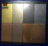 AISI 201 430 304 316 Größen-Preis des Edelstahl-Blatt-Haarstrichmessingfarben-dekorativer Blatt-4X8