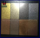 AISI 201 430 304 316ステンレス鋼シートのヘアライン真鍮カラー装飾的なシート4X8のサイズの価格