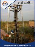 Bêcheur actionné de trou de Pôle de télégraphe d'engine d'essence d'image de vue de fouille de trou de poste un plus grand