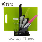 Holder & Chopping Board를 가진 분홍색 Color Kitchen Knife Set