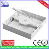 Painel do diodo emissor de luz 18W da carcaça de alumínio/luz de teto montados redondos