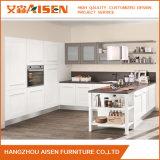 Venda por atacado popular L gabinete de cozinha da madeira contínua do estilo