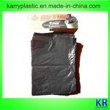 Sacs d'ordures recyclables noirs de sachets en plastique