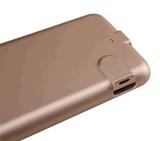 Cas de chargeur de batterie de téléphone cellulaire avec le côté de pouvoir pour l'iPhone 6 positif