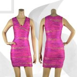 Платье женщин изготовленный на заказ полиэфира макси
