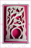 Shandong-Fabrik-Preis-Hochzeits-Karten-Papier-hölzerne Fertigkeit-Laser-Ausschnitt-Maschine