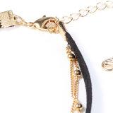Großhandelsstern-Mond-mehrschichtige nachgemachte Schmucksache-Form-Zubehörchoker-Halskette