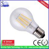 Luz de bulbo incandescente del filamento de E27 Edison 8W LED