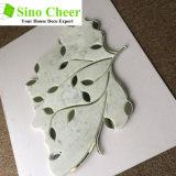 판매 Carrara 높은 백색 대리석 혼합 유리제 잎 물 분출 모자이크
