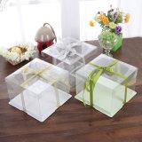 caixa de bolo plástica de dobramento desobstruída eco-friendly da caixa do alimento da embalagem (caixa do animal de estimação)