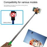 Foldable 클립 이동 전화를 위한 미러 없는 붙박이 Bluetooth 소형 Selfie 지팡이